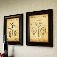 ''Wine'' 2-piece Framed Wall Art