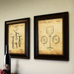 ''Wine'' 2 pc Framed Wall Art