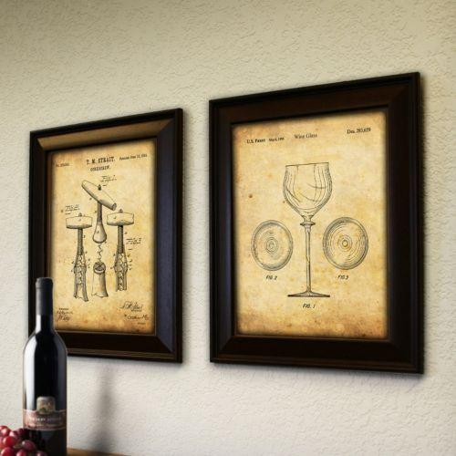 """Wine"" 2-piece Framed Wall Art"