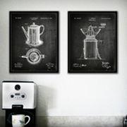 ''Coffee'' 2 pc Wall Art Set