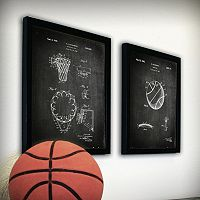 ''Basketball'' 2-piece Framed Wall Art Set