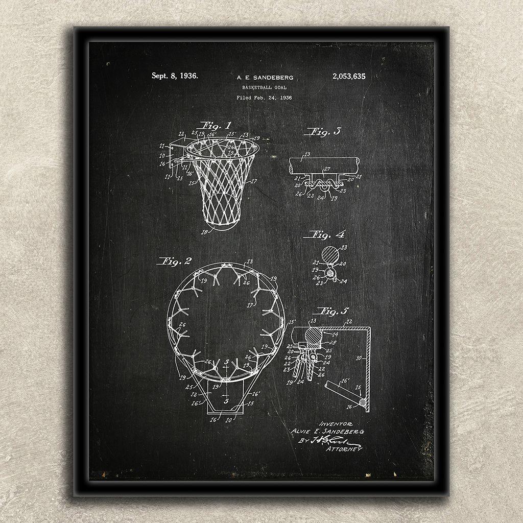 ''Basketball'' 2-piece Framed Wall Art Set