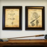 ''Fishing'' 2-piece Framed Wall Art Set