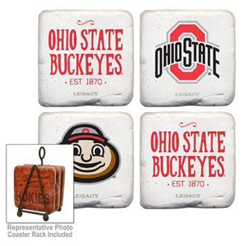 Legacy Athletic Ohio State Buckeyes 4-Piece Tumbled Coaster Set