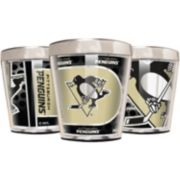 Pittsburgh Penguins 3-Piece Stainless Steel & Acrylic Shot Glass Set