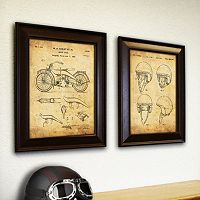 ''Motorcycle Bikers'' 2 pc Wall Art Set