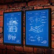 ''Steam Engine'' 2-piece Framed Wall Art Set