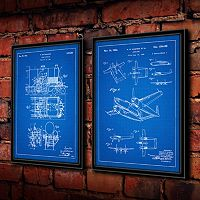 ''Steam Engine'' 2-piece Framed Wall Art Set