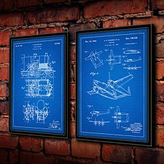 ''Steam Engine'' 2 pc Framed Wall Art Set