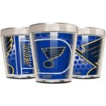 St. Louis Blues 3-Piece Stainless Steel & Acrylic Shot Glass Set