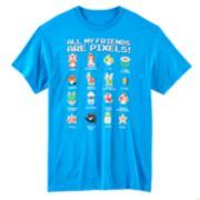 Nintendo All My Friends Are Pixels Tee - Boys 8-20