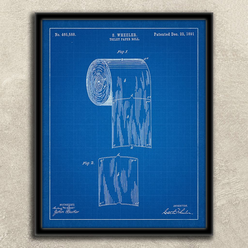 ''Bathroom'' 2-piece Framed Wall Art Set
