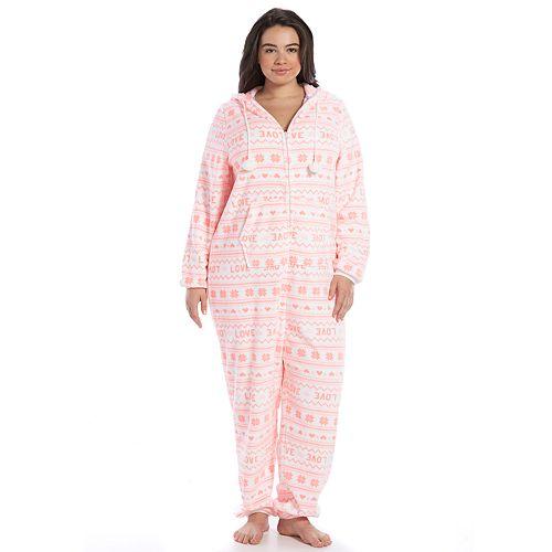Juniors' Plus Size SO® Pajamas: Plush One-Piece Pajamas