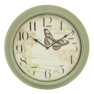 Decor Therapy Antique Butterfly Wall Clock
