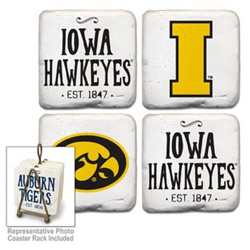 Legacy Athletic Iowa Hawkeyes 4-Piece Vintage Tumbled Coaster Set