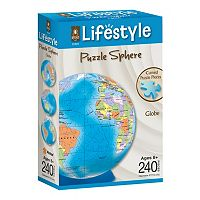 BePuzzled 240 pc Globe Lifestyle 3D Puzzle Sphere
