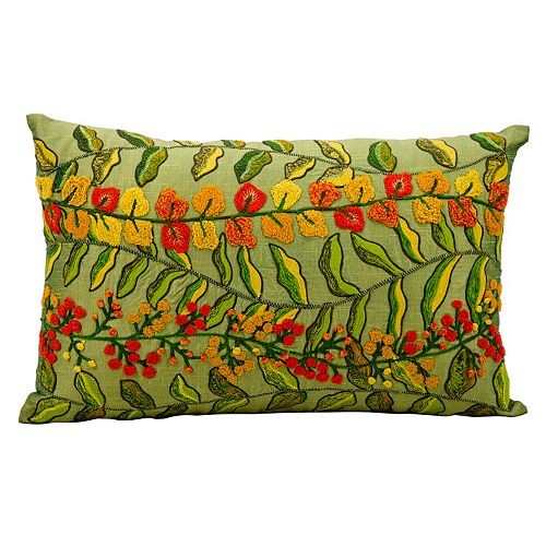 Mina Victory Fantasia Vine Throw Pillow