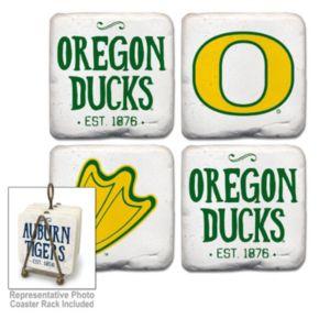 Legacy Athletic Oregon Ducks 4-Piece Vintage Tumbled Coaster Set
