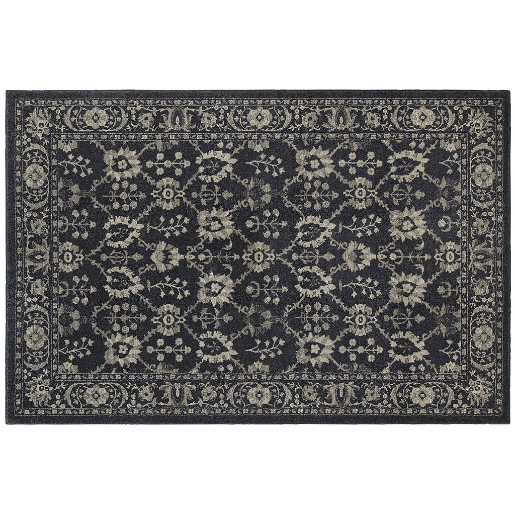 StyleHaven Chesapeake Damask Rose Rug