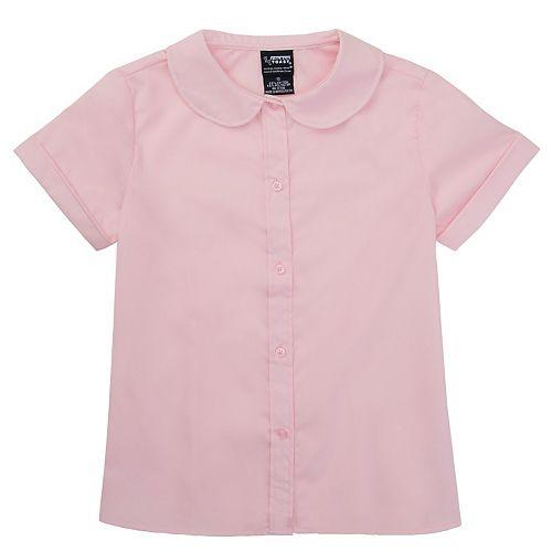 92a61d0b411 Girls 4-6x French Toast School Uniform Peter Pan Collar Short-Sleeve Blouse