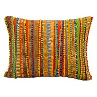 Mina Victory Fantasia Striped Geometric Throw Pillow