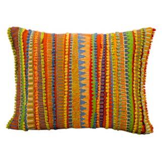 Mina Victory Fantasia Striped Geometric Throw Pillow