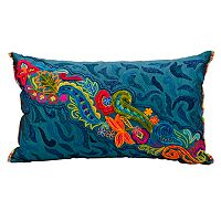 Mina Victory Fantasia Floral Paisley Throw Pillow