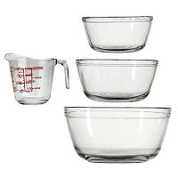 Fox Run 4 pc Measuring Cup & Mixing Bowl Set