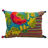 Mina Victory Fantasia Floral Striped Throw Pillow