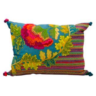 Mina Victory Fantasia Floral Striped Throw Pillow