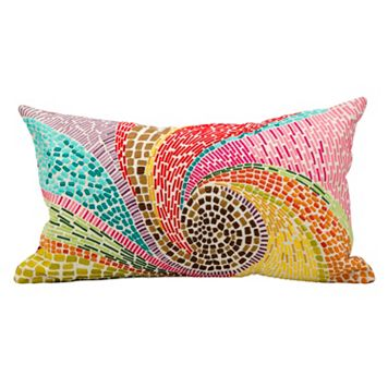 Mina Victory Fantasia Mosaic Throw Pillow