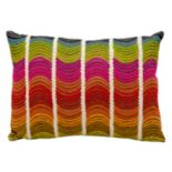 Mina Victory Fantasia Wavy Stripe Throw Pillow