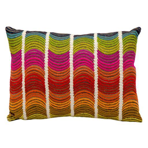 Mina Victory Fantasia Wavy Stripe Throw Pillow