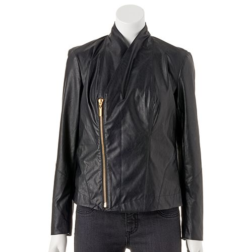 Women's Jennifer Lopez Faux-Leather Motorcycle Jacket