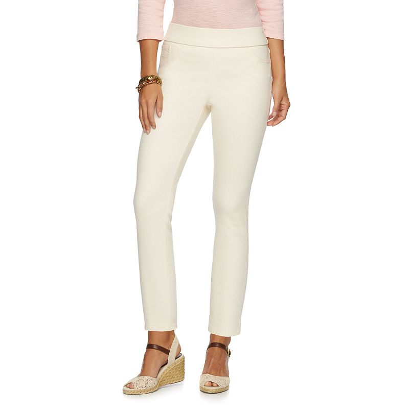 Women's Chaps Pull-On Straight-Leg Ankle Pants