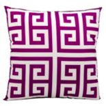Mina Victory Greek Key Outdoor Throw Pillow