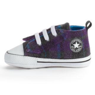 Baby Converse All Star First Star Plaid Crib Shoes