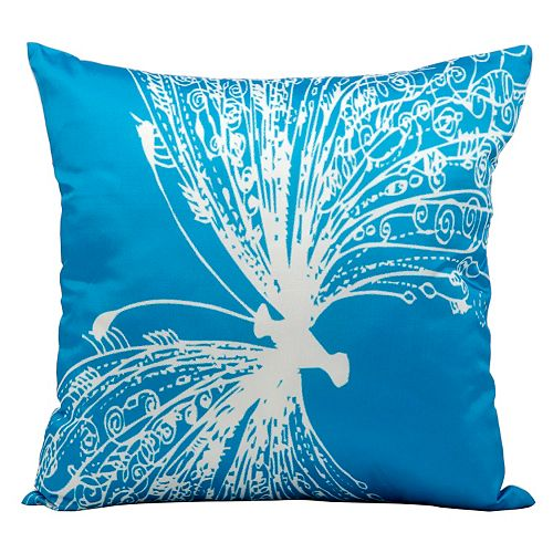 Mina Victory Butterfly Bright Outdoor Throw Pillow