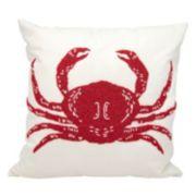 Mina Victory Beaded Crab Outdoor Throw Pillow
