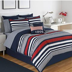 IZOD Varsity Stripe 3 pc Reversible Comforter Set - XL Twin