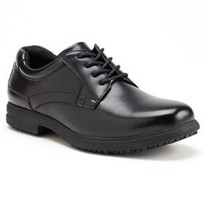 Nunn Bush Sherman Men's Plain Toe Slip-Resistant Oxford Shoes