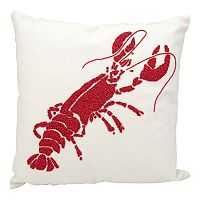 Mina Victory Beaded Lobster Outdoor Throw Pillow