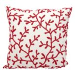 Mina Victory Beaded Coral Outdoor Throw Pillow