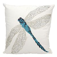 Mina Victory Beaded Dragonfly Outdoor Throw Pillow