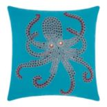 Mina Victory Beaded Octopus Outdoor Throw Pillow