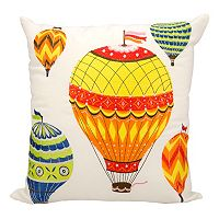 Mina Victory Hot Air Balloon Outdoor Throw Pillow
