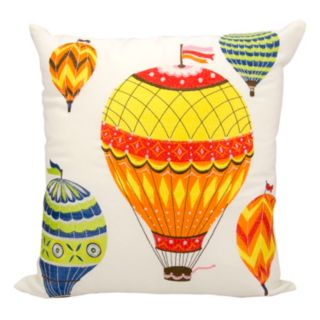 Mina Victory Hot Air Balloon Outdoor Throw Pillow