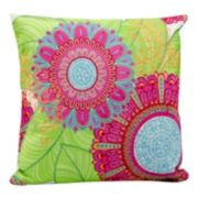 Mina Victory Botanical Outdoor Throw Pillow