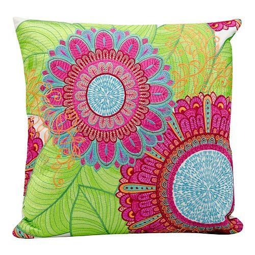 Mina Victory Botanical Outdoor Throw Pillow