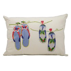 Mina Victory Flip-Flops Outdoor Throw Pillow